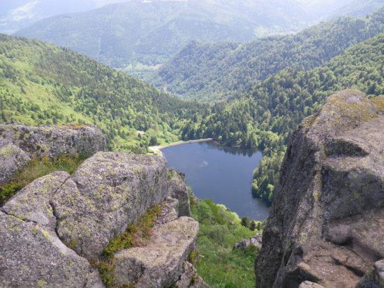 Blick auf den Lac du Schiesssrothried vom Hohneck aus