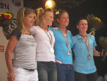 Siegerehrung der Frauen beim 80km du Mont Blanc