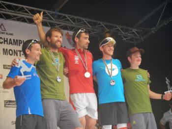 Siegerehrung der Männer beim 80km du Mont Blanc