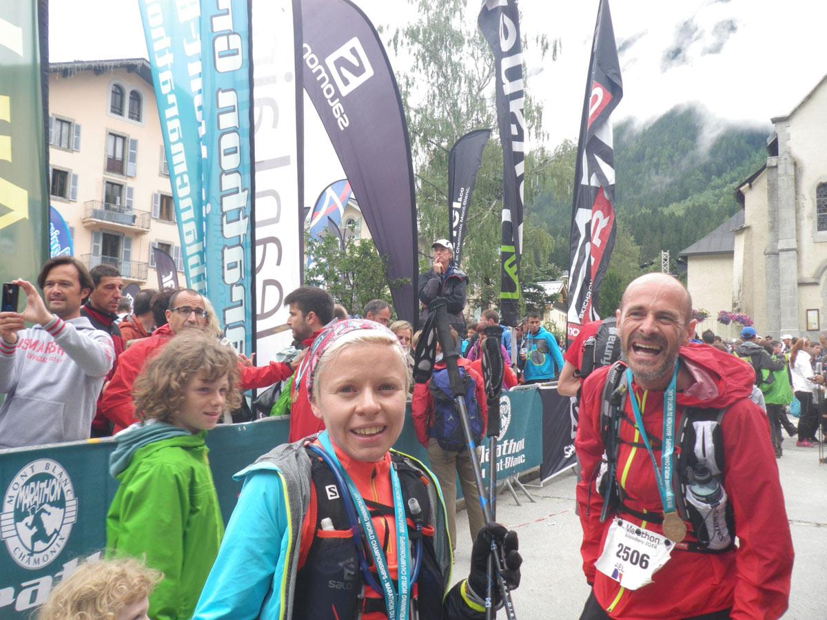 Mont Blanc Marathon: Ziel