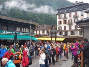 Mont Blanc Marathon: Zuschauer in Chamonix