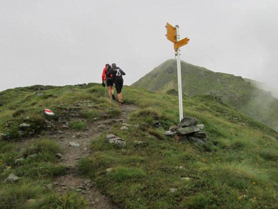 Trail du Vélan Aufstieg