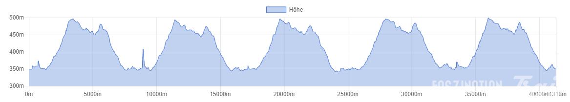 Bärenfels Heiligabend Marathon 2014 Höhenprofil