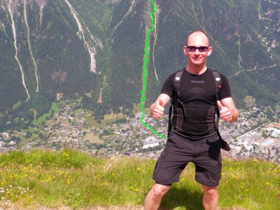 KMV du Mont-Blanc Strecke