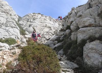Cursa Tomir - kleine Kletterpassage am Tomir