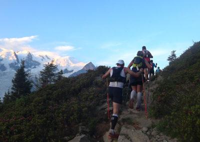 80 km du Mont-Blanc Aufstieg zum Brévent bei Sonnenaufgang