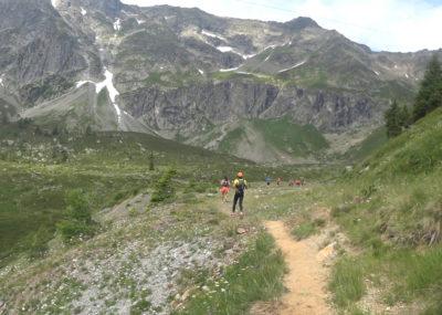 80 km du Mont-Blanc Aufstieg nach Loriaz