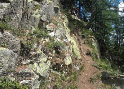 80 km du Mont-Blanc Abstieg nach Châtelard