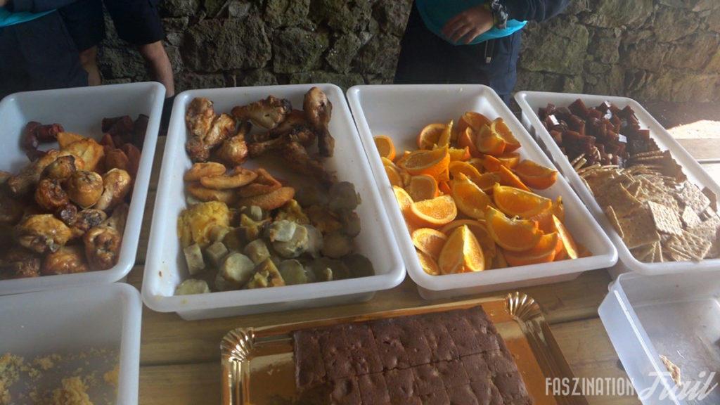 Azores Trail Run: Verpflegung am Cabouco