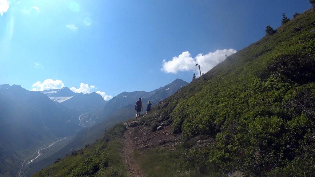 Pitz Alpine 2018 Aufstieg zur Sunna Alm